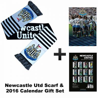 Newcastle United 2016 Calendar & Scarf Gift Set