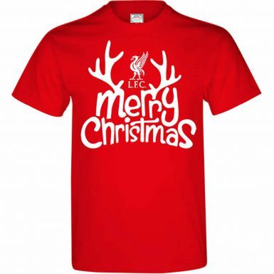 Liverpool FC Merry Christmas T-Shirt