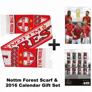 Nottingham Forest 2016 Calendar & Scarf Gift Set
