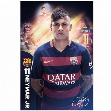 FC Barcelona & Neymar Jnr Wall Poster