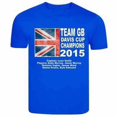 Kids Great Britain Tennis Davis Cup Winners T-Shirt