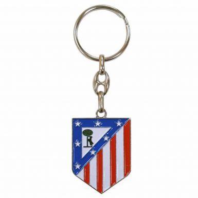 Atletico Madrid Football Crest Keyring