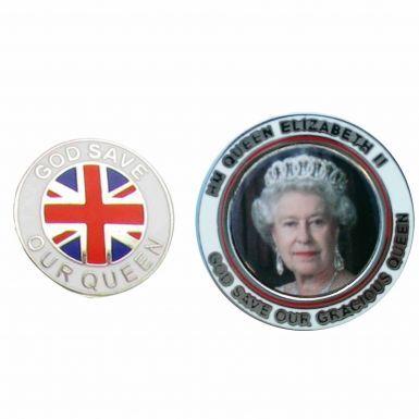 HM Queen Elizabeth 90th Birthday Badge Set