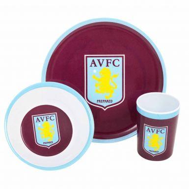 Aston Villa Kids Bowl, Plate & Mug Set