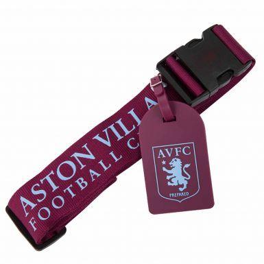 Aston Villa Luggage Strap & Bag Tag Set