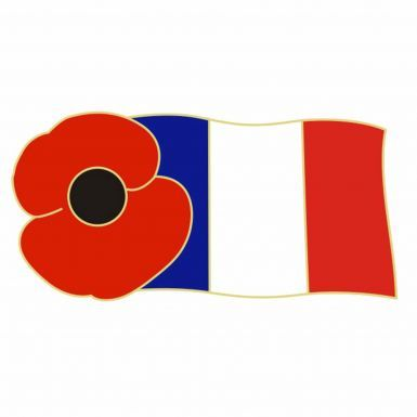 France Poppy Remembrance Pin Badge