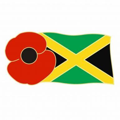 Jamaica Poppy Remembrance Pin Badge