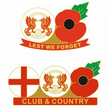 Leyton Orient Club & Country Poppy Pin Badge Set
