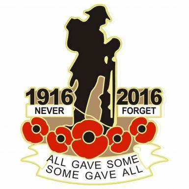 1916-2016 Centenary Poppy Remembrance Badge