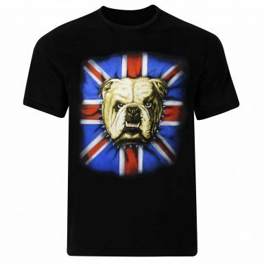 British Bulldog & Union Jack Flag T-Shirt
