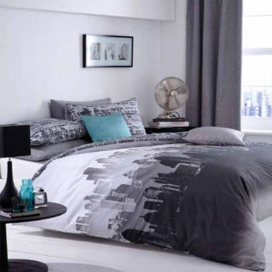 City Scape Skyline Single Duvet COVER Set
