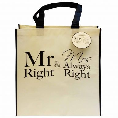 Mr Right & Mrs Always Right Shopping Bag