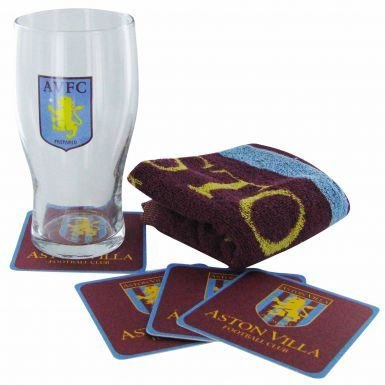 Aston Villa Pint Glass Mini Bar Set