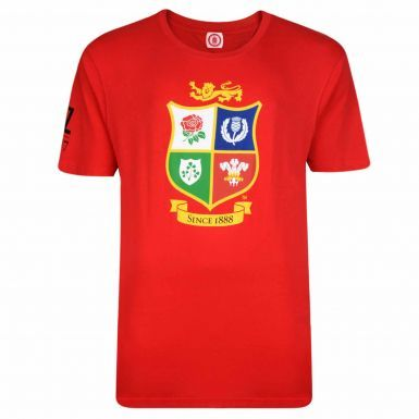2017 British & Irish Lions Rugby Crest New Zealand Tour T-Shirt