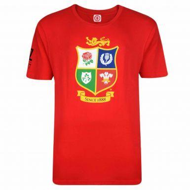 2017 British & Irish Lions Rugby Crest New Zealand Tour T-Shirt