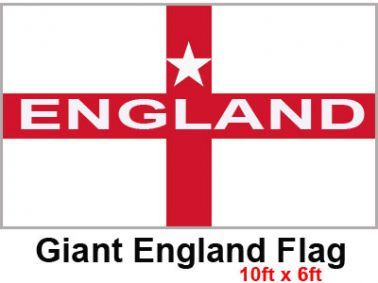 Giant England Cross of St George Flag (9ft x 6ft)