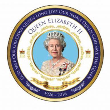 Queen Elizabeth II 90th Birthday Fridge Magnet