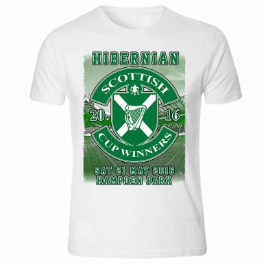Hibernian FC 2016 Scottish Cup Winners T-Shirt