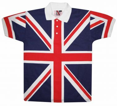 Kids Union Jack Flag Polo Shirt