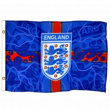 Official England 3 Lions Crest Flag