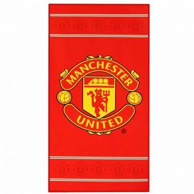 Official Manchester United Big Logo Towel