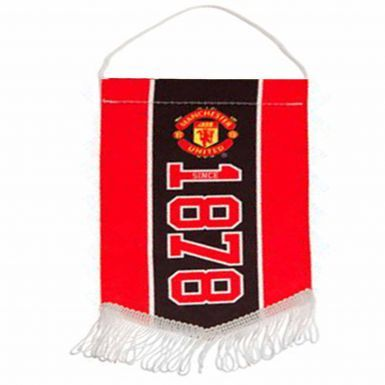 Manchester Utd Mini Pennant for Cars or the Home