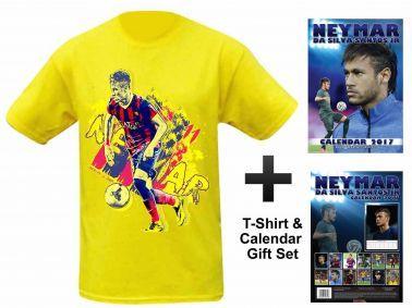 NEYMAR Jnr 2017 Calendar & T-Shirt Gift Set
