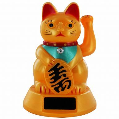 Oriental Waving Fortune Cat (Solar Powered)