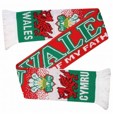 Wales Flag Rugby Football Scarf