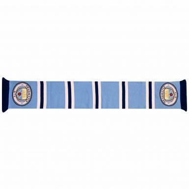 Manchester City Crest Retro Bar Scarf