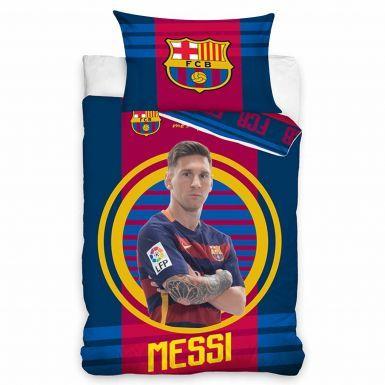 Lionel Messi & FC Barcelona Single Comforter Cover Set
