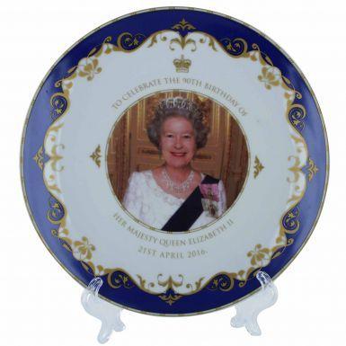 Queen Elizabeth II 90th Birthday Souvenir Plate