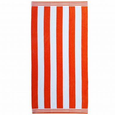 Giant Orange & White Striped Beach Towel