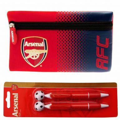 Arsenal FC Pencil Case & 2 Pen Set