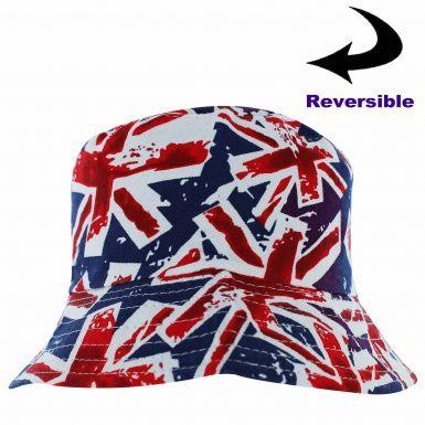 Union Jack Flag Reversible Sun Hat