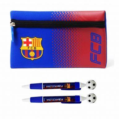 Official FC Barcelona Pencil Case & Pen Set
