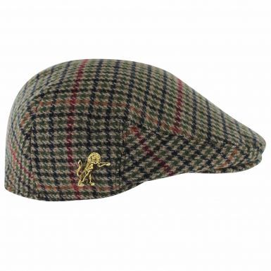 Millwall Lion Crest Tweed Style Flat Cap