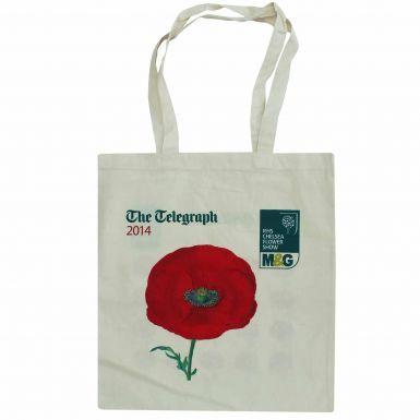 RHS Flower Show Poppy Flower Shopping Bag