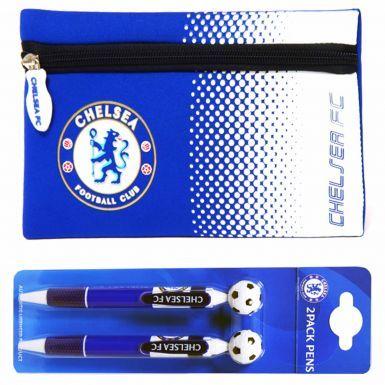 Chelsea FC Pencil Case & 2 Pen Set
