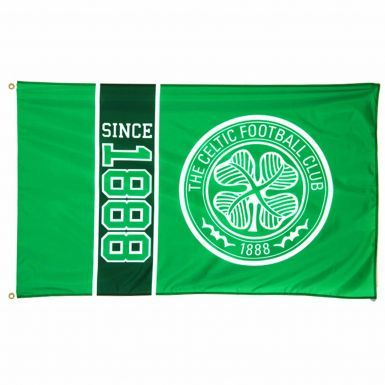 Official Celtic FC Since 1888 Crest Flag