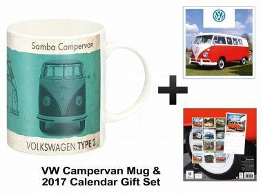 VW Campervan 2017 Calendar & Mug Gift Set