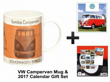 Official VW Campervan 2017 Calendar & Mug Gift Set