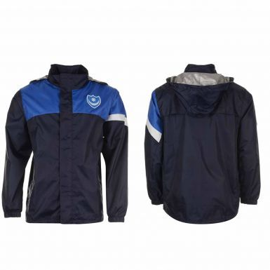 Portsmouth FC Hooded Rain Jacket