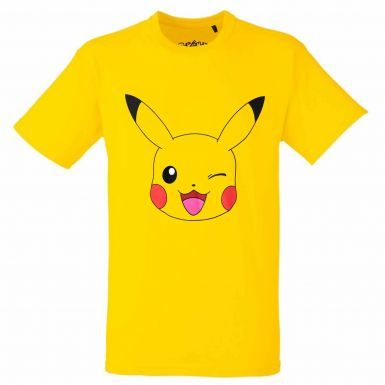 Official Winking Pikachu Pokemon T-Shirt