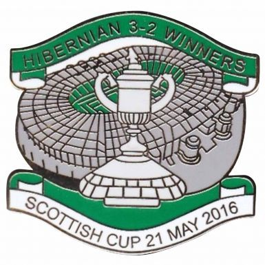Hibernian FC 2016 Scottish Cup Winners Badge Set