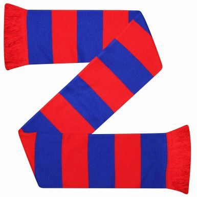 Red & Blue Bar Scarf