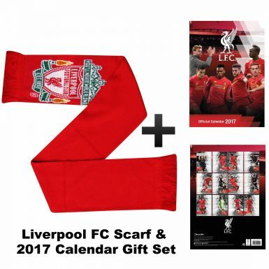 Liverpool FC 2017 Calendar & Scarf Gift Set