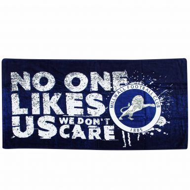 Official Millwall FC Crest 'No One Likes Us' Towel