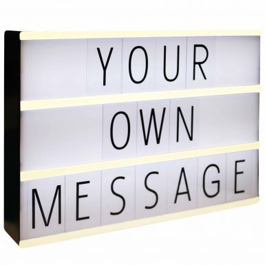 Cinema LED Lightbox With Letters & Symbols for Fun Messages