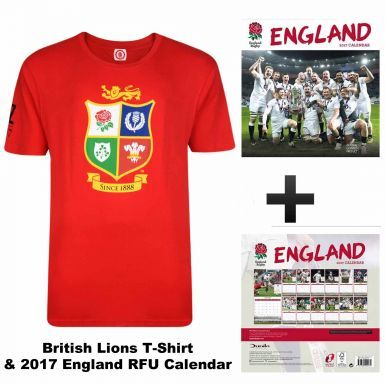 2017 England Rugby Calendar and British Lions Rugby T-shirt